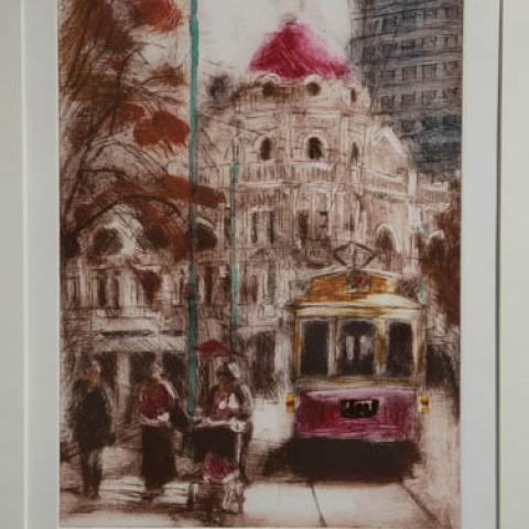 Fine art Gallery near Me with affordable modern contemporary Solar Etching by Philip Beadle Christchurch Art For Sale 10