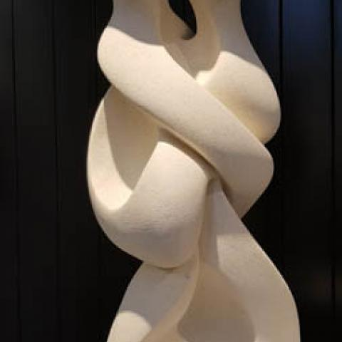 Fine art Gallery near Me with affordable modern contemporary original Oamaru Stone Sculpture by Ruth Killoran Christchurch Art For Sale 8