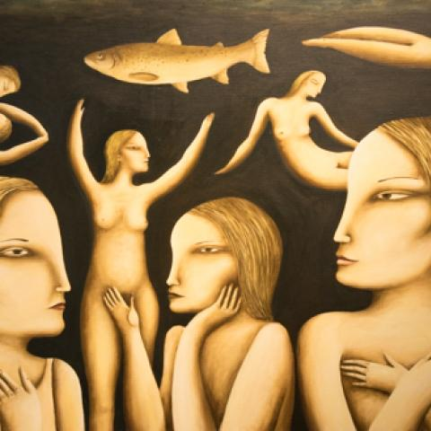 Fertility Sue Syme Oil Painting on Canvas Art Windsor Gallery Canterbury