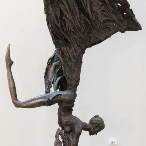 Fine art Gallery near Me with affordable modern contemporary original Bronze Sculpture on Black Base by Anneke Bester 2