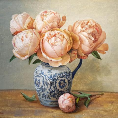 Still Life with Peonies by Svetlana Orinko - Windsor Gallery Christchurch
