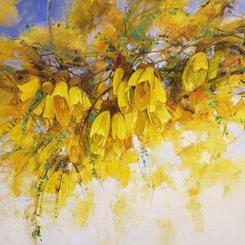 Kowhai Blossoms by Svetlana Orinko - Art in christchurch Windsor Gallery