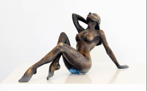 Bathe_Anneke Bester Affordable Original Contemporary Modern Sculpture