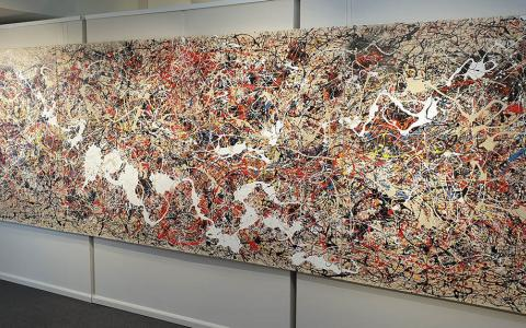 Ivan Button in the Style of Jackson Pollock 4  - Windsor Gallery Contemporary Acrylics