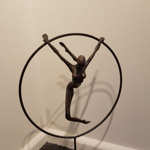 Fine art Gallery near Me with affordable modern contemporary original Bronze Sculpture on Stone Base by Anneke Bester 4
