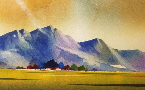Fine art Gallery near Me with affordable modern contemporary original Water Colour Painting by Ivan Button