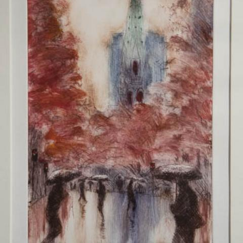 Fine art Gallery near Me with affordable modern contemporary Dry Point by Philip Beadle Christchurch Art For Sale 5