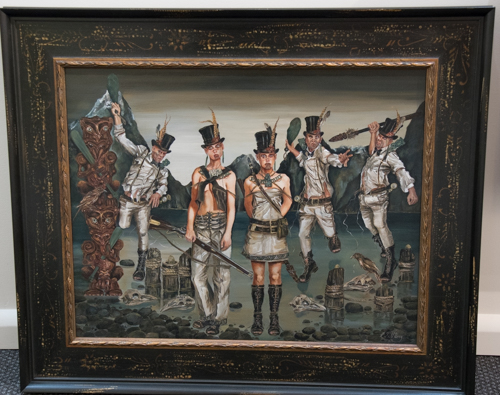 Echoes of The Milford Piopio 1812 by Rhonye McIlroy at Windsor Gallery