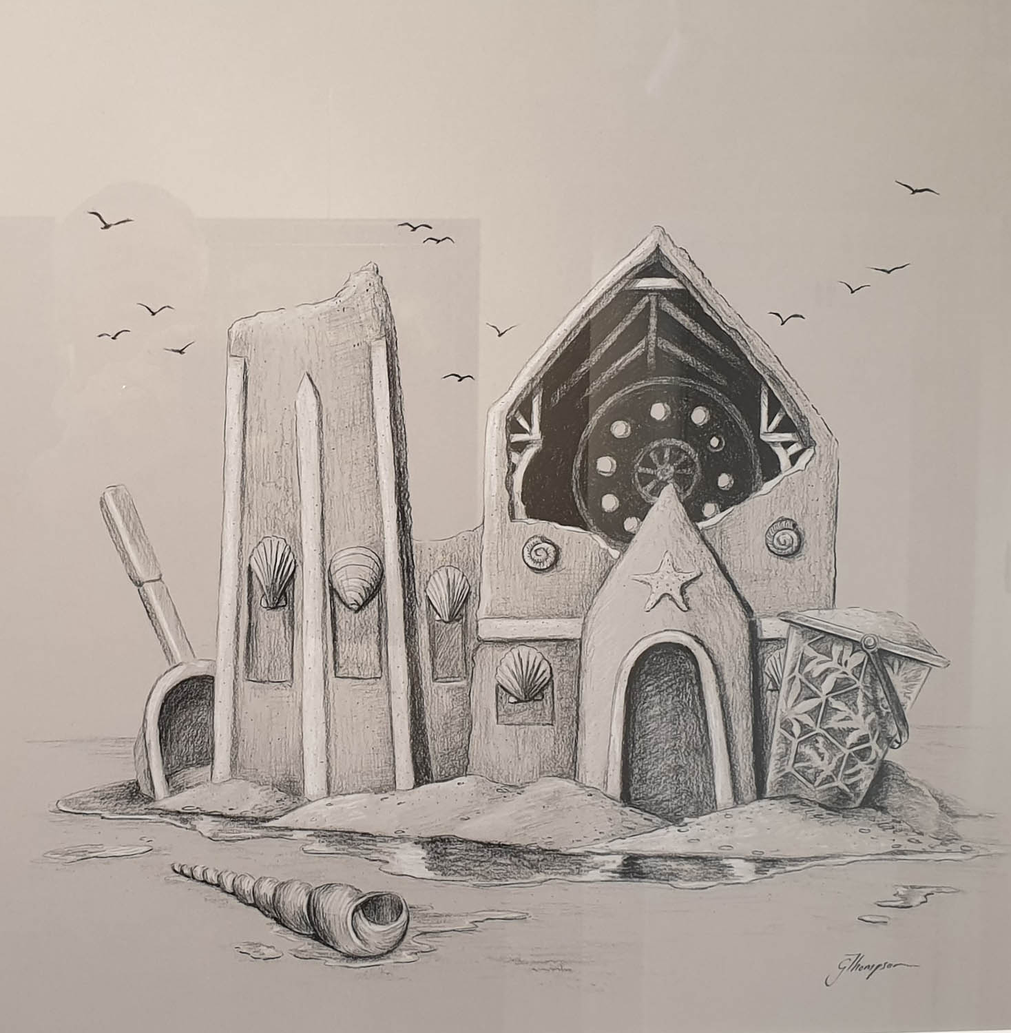 Everything is Temporary Graphite Pencil by Georgette Thompson - original fine art gallery christchurch near me