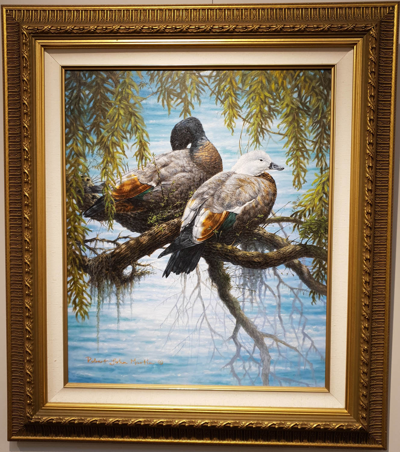 Paradise Ducks Robert Martin Original Oil Painting Windsor Gallery