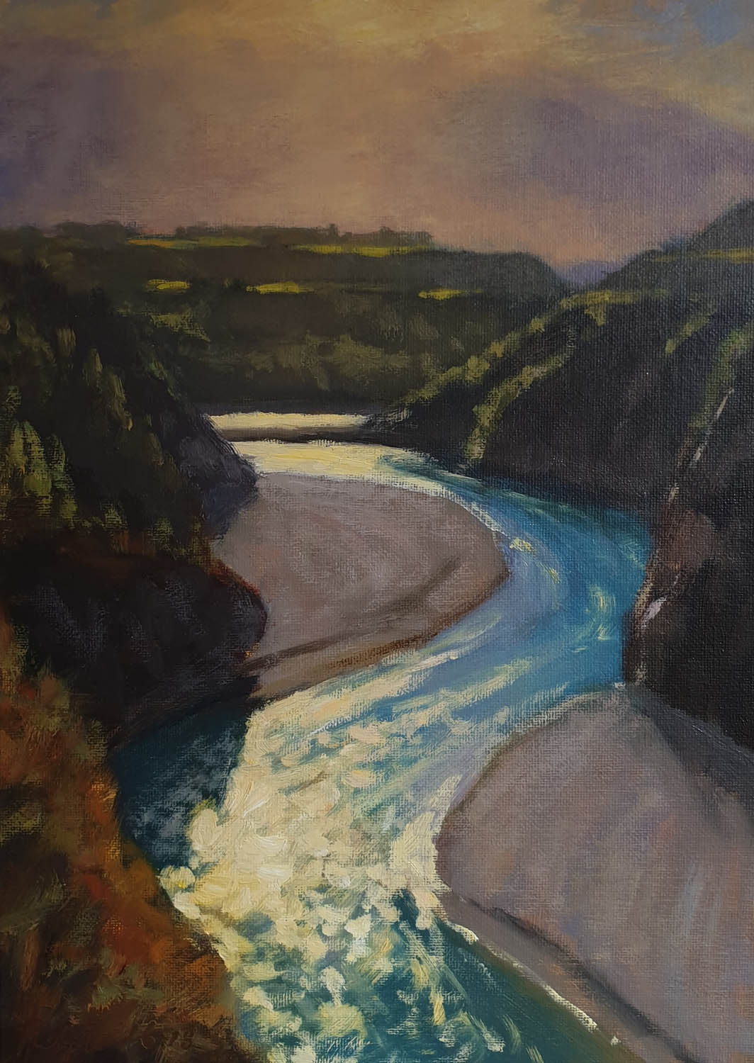 Windsor Gallery Exhibits Philip Beadle Oil Painting - Raikaia Gorge