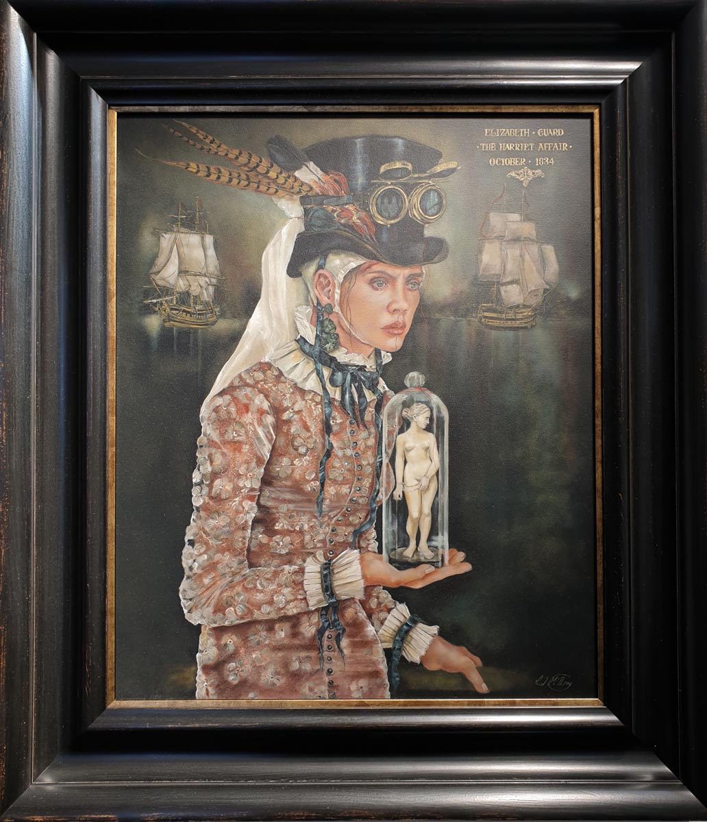 Rhonye McIlroy - The Harriet Affair April 1834 at Windsor Gallery-  modern painting contemporary and fine art